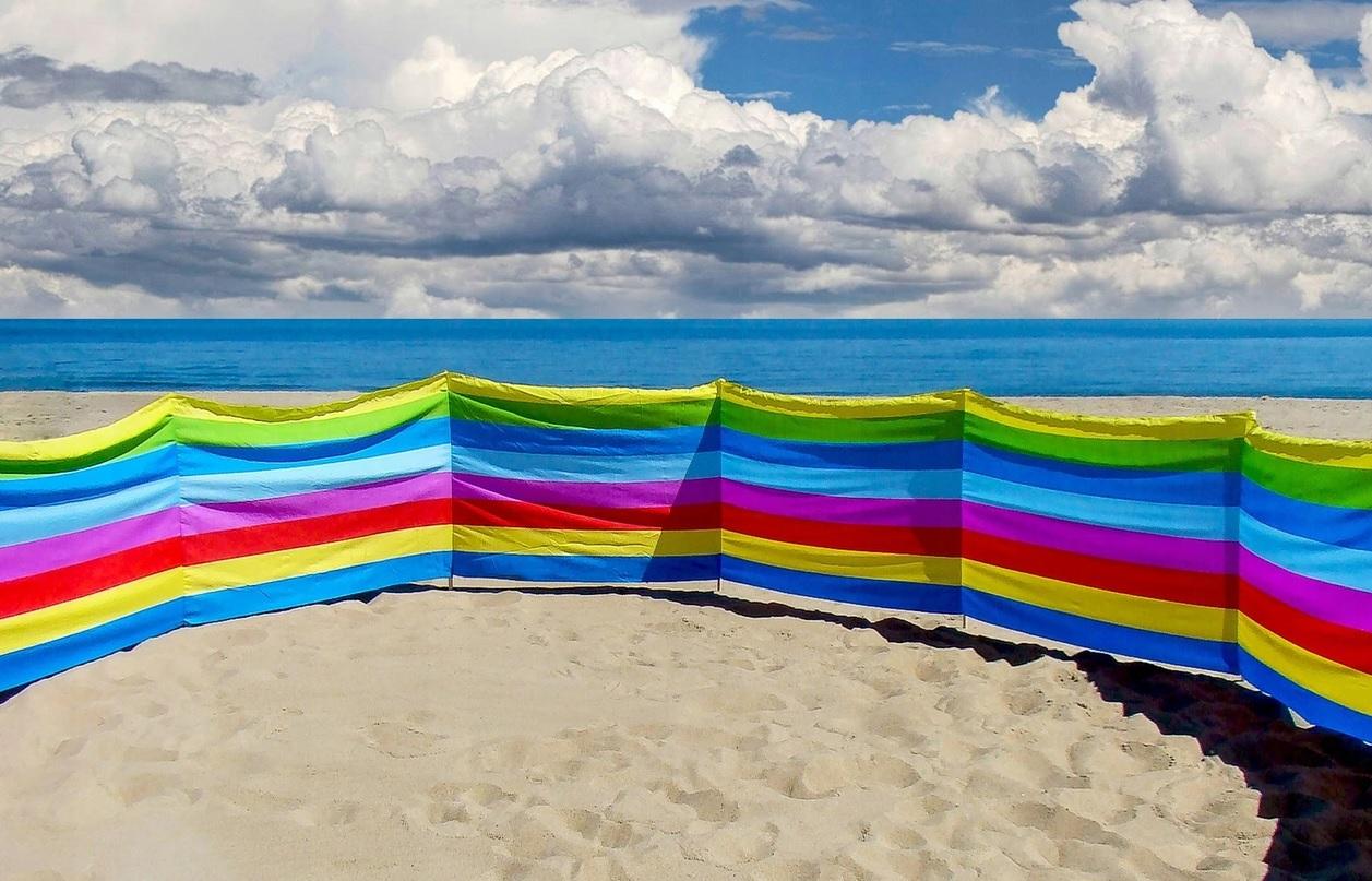 Windschutz 4m Sonnenschutz Winschrem Strand Garten Meer See